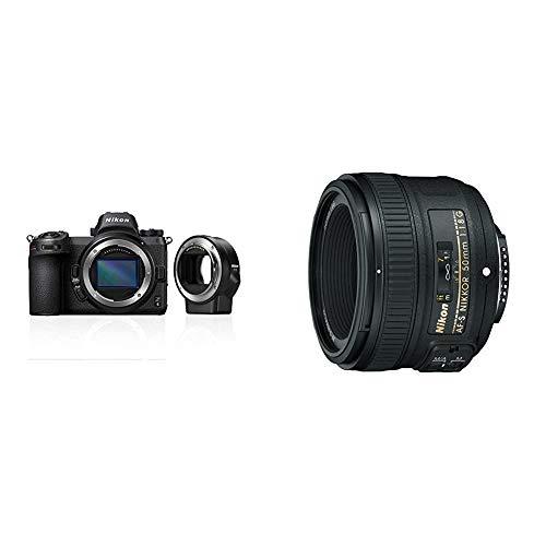 Nikon Z6 System-Digitalkamera + FTZ Adapter + 64GB XQD & AF-S NIKKOR 50 mm 1:1,8G Objektiv (58mm Filtergewinde)