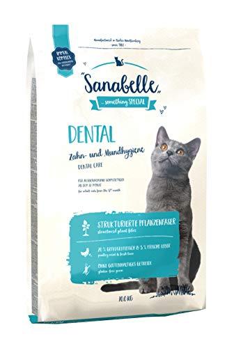 Sanabelle Dental | Katzentrockenfutter für ausgewachsene Katzen zur Zahnreinigung und Gebisspflege, 1er Pack (1 x 10000 g)