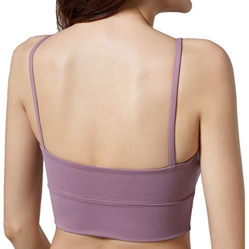 Cwang Sujetador Suave Zero Feel para Mujer,púrpura,M
