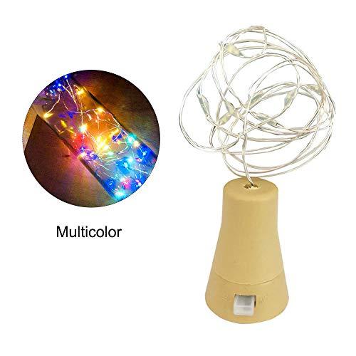 Walmeck 10LEDs Solar Wine Bottle Light Waterproof Copper Wire Decorative Lamp String