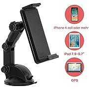 Modohe Rotation à 360 ° support de téléphone de voiture pare-brise ventouse support de voiture support pour téléphone portable convient pour téléphone portable mini tablettes avec 4.5-18,8 cm de large