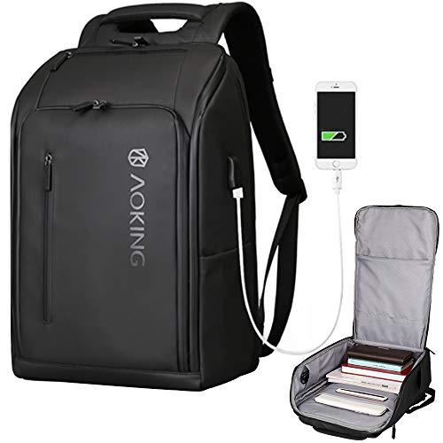 HWJF wasserdichte Notebook USB-Rucksack, Multi-Funktions-Business-Anti-Diebstahl-Reise-Rucksack, Frauen Schule Computer Tasche, Geeignet Für 15,6-Zoll-Laptop