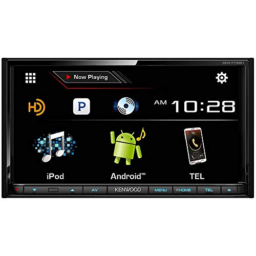 Kenwood DDX773BH 6.95' in Dash Touchscreen DVD CD Receiver with Built in Bluetooth, AM/FM Tuner and...
