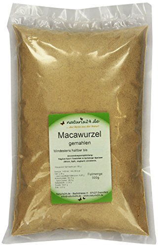 Naturix24 Maca Pulver, Macawurzel Gemahlen, 1er Pack (1 x 500 g)