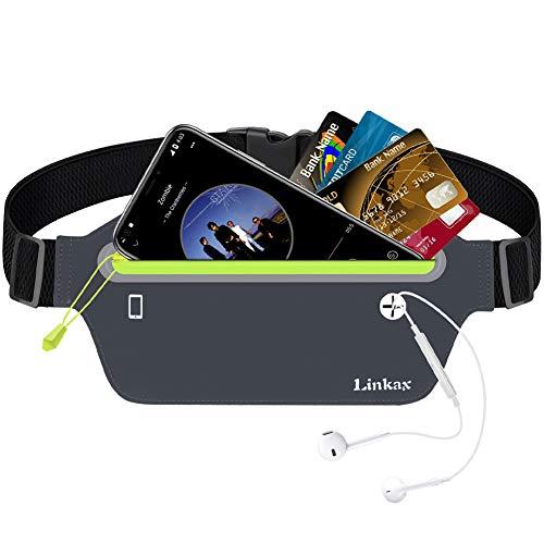 Linkax Marsupio Sportivo Running Impermeabile Porta Cellulare per Uomo e Donna con Tasca Cintura da Corsa per iphone6/6Plus/7/7Plus/Samsung s5 alpinismo trekking ciclismo