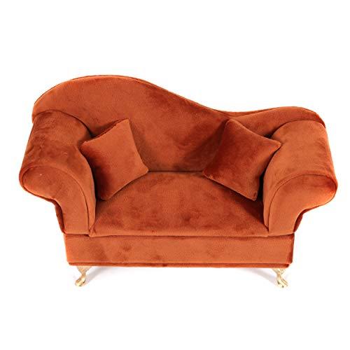 Caja Joyero Sofa Joyeros Mujer Organizador Decoración Terciopelo 22 X 7,50 X 15 CM- Color Miel