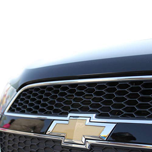 Guzetop Front Bumper Emblem Chrome Grille Badge Grill Sign Symbol Logo Compatibe with 2011-2014 Chevy Cruze Gold