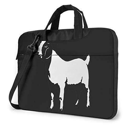 Laptop Bag Boer Goat Laptop Shoulder Bag Messenger Briefcase Laptop Case Sleeve for 13 Inch