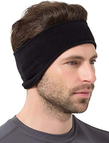 Tough Headwear Ear Warmer Headband - Winter Fleece Ear Cover for Men & Women - Warm & Cozy Cold Weather Ear Muffs for Running, Cycling, Sports & Daily Wear - Soft & Stretchy Earmuffs - Ear Band