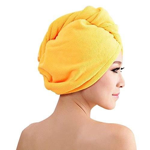 Nueva microfibra de la ducha de secado del pelo de la envoltura de la envoltura de las mujeres de las niñas de la señora s toalla de secado rápido sombrero de la gorra de turbante de la cabeza de la envoltura del baño herramientas