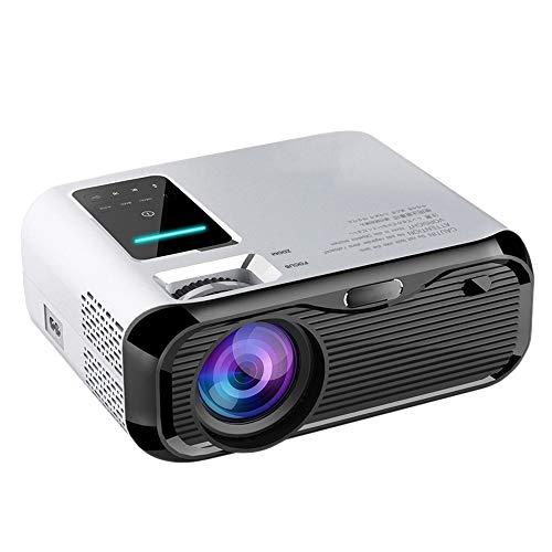 SNOWINSPRING Proyector E500 1280P HD Pantalla PortáTil Sin ProyeccióN de Pared 2 Altavoces para la Oficina de Cine en Casa, Enchufe de la UE
