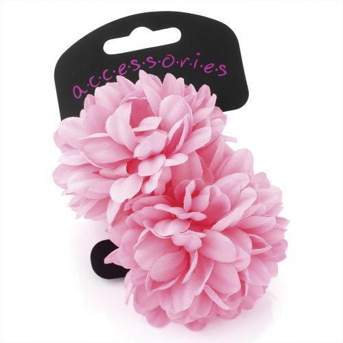 Twilo Design Haargummi mit zwei großen Blumen, 6,5cm