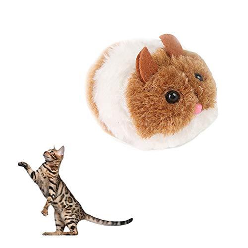 1 Stück Uhrwerk Maus Spielzeug-Plüsch-Wind up Racing Ratte Nette mechanisch bewegte lustiges Spielzeug Tierzubehör zufällige Farbe
