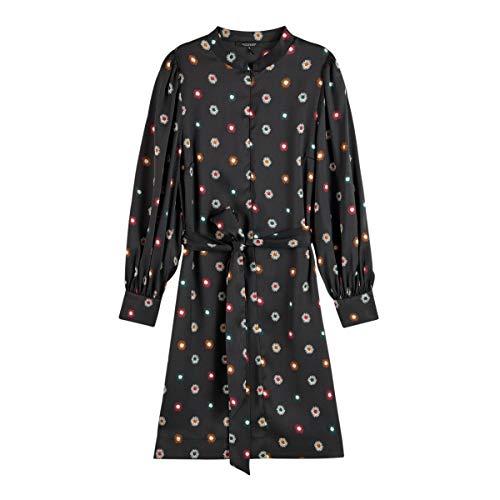 Scotch & Soda Maison Womens Bedrucktes Kleid mit Taillengürtel Casual Dress, Combo V 0601, XL