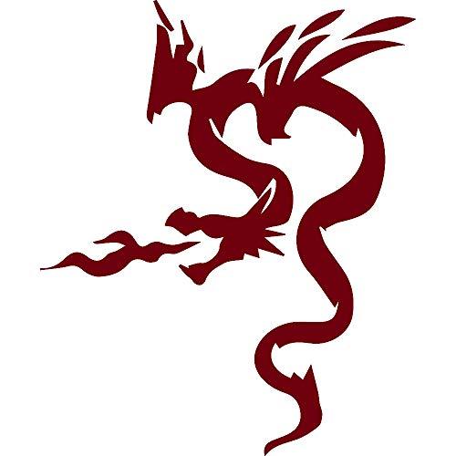 USCLIFESYLE Usclifestyle Dragon Silhouette 4 (Burgundy) (Set of 2) Premium Waterproof Vinyl Decal Stickers for Laptop MacBook Phone Tablet Helmet Car Window Bumper Mug Tuber Cup Door Wall Decoration