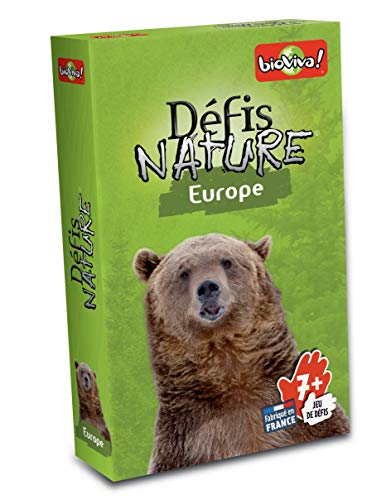 Bioviva 282512 Nature Challenges Animal Europe Kartenspiel, Mehrfarbig