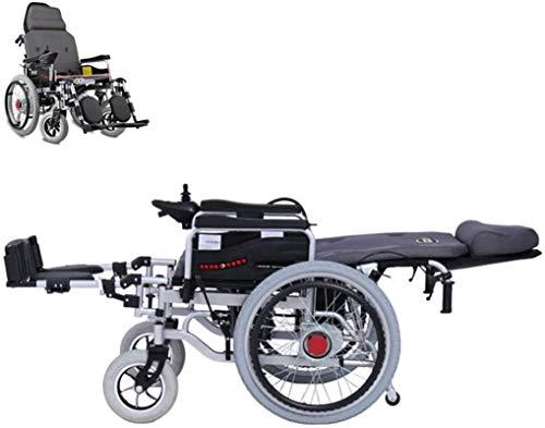 Silla de Ruedas eléctrica, Silla de ruedas eléctrica for trabajo pesado con grandes ruedas, impulsado silla de ruedas plegable del asiento 250W * 2 Doble Motor Ancho 46cm 360 ° Joystick ,4 Ruedas Anda