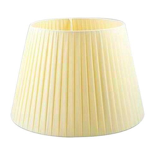 Eastlion Creative Jacquard und Perle Retro Palace Anhänger Handgefertigte Anhänger UNO E27 Lampenschirm für Tischleuchten, Stehleuchten, Wandleuchten, Creme (Oben) 20x(unten) 30x(Höhe) 22cm
