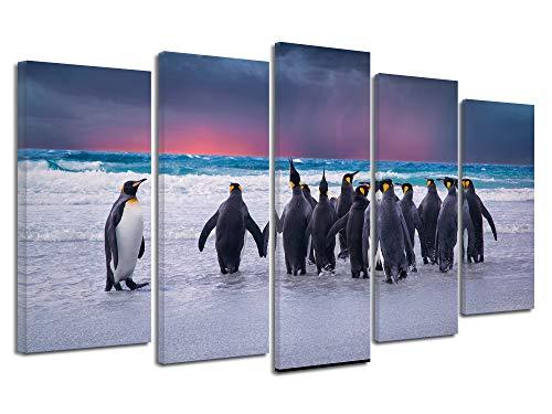 Declina afbeelding met dieren, foto op canvas, wanddecoratie, woonkamerdecoratie, fotobord, 150 x 80 cm 150x80 cm Meerkleurig