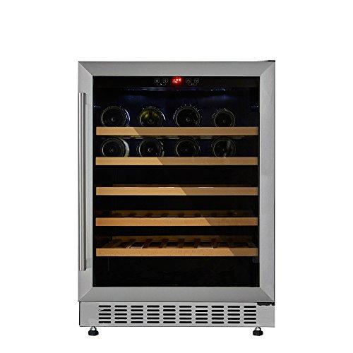 Cookology CWC600SS 60cm Wine Cooler in Stainless Steel | 54 Bottle Capacity, Freestanding Undercounter Fridge