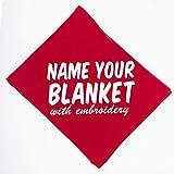 Personalized Custom Fleece Blanket - Add Your Embroidered Name - Throw Keepsake Blanket for Housewarming, Babies, Boys, Girls, Women, Men, Toddler Bedding