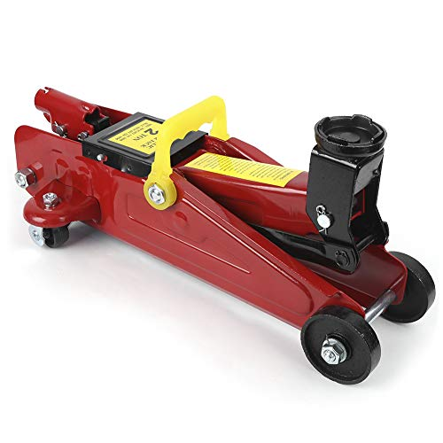 Gato hidráulico profesional con ruedas de 2 toneladas, con maleta de transporte,...