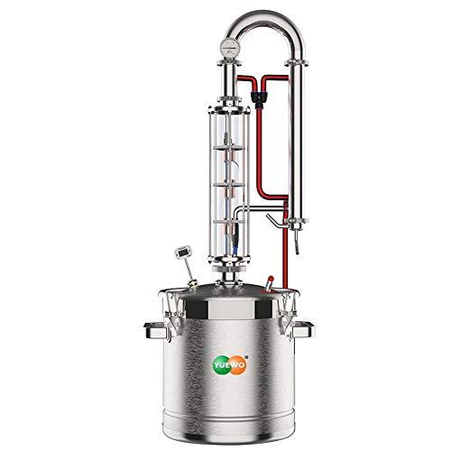 YUEWO Moonshine Still 5.8 Gal 22 litres Stainless Steel Wine Making Kit Water Distiller Home Brewing Kit for DIY Whisky Wine Brandy Gin Vodka
