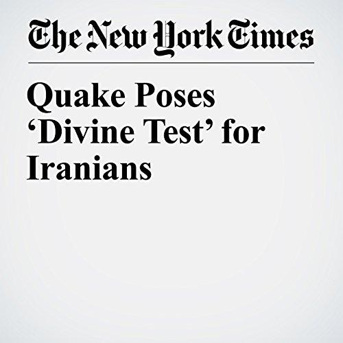 Quake Poses 'Divine Test' for Iranians copertina