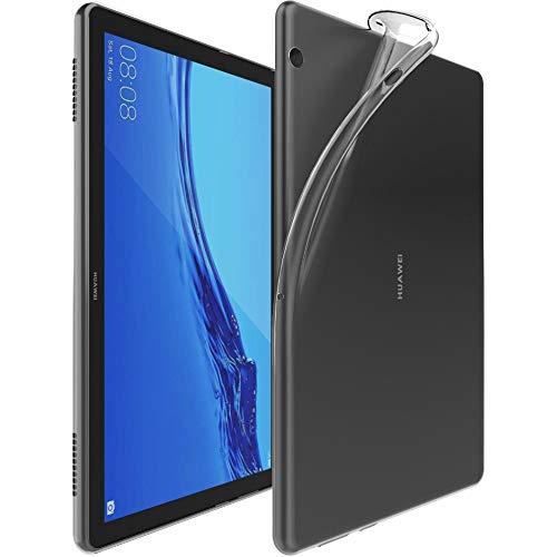 ebestStar - kompatibel mit Huawei MediaPad T5 10 Hülle Tablet 10.1 Handyhülle [Ultra Dünn], Premium Durchsichtige Klar TPU Schutzhülle, Soft Flex Silikon, Transparent [T5 10.1: 243x164x7.8mm, 10.1'']