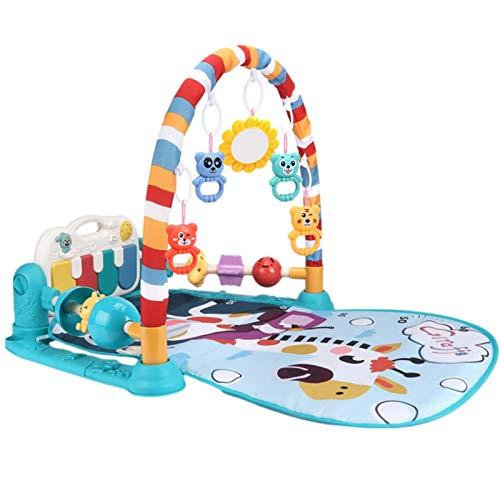 perfeciti Baby Krabbeldecke Mit Spielbogen, Baby Speicherecke Mit Musik & Licht, Doppel SicherenHerzaun, Tritt Und Spiel Klavier Baby Tätigkeit Spielmatte Für Neugeborene