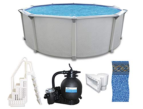 """Colombia 18' x 54"""" Round Above Ground Swimming Pool Platinum Package"""