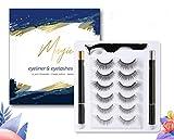 Neue Magnetische Wimpern mit Eyeliner,Magnetischer Eyeliner und Magnet Wimpern Kit Natürlich mit Pinzette