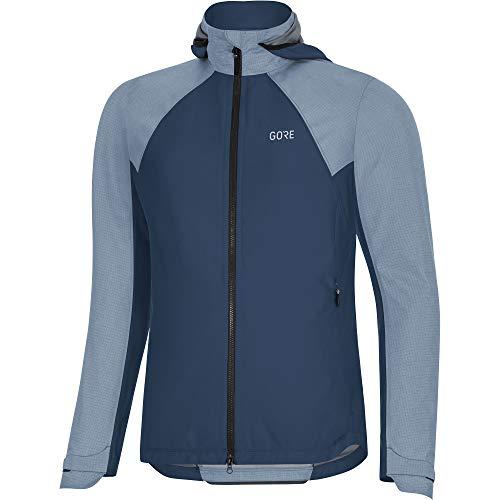 GORE WEAR C5 Giacca con cappuccio da ciclismo per donna GORE-TEX INFINIUM, 34, Blu scuro