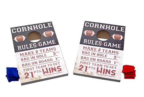 Boston Warehouse Tabletop Cornhole Game Set with 8 Bean Bags