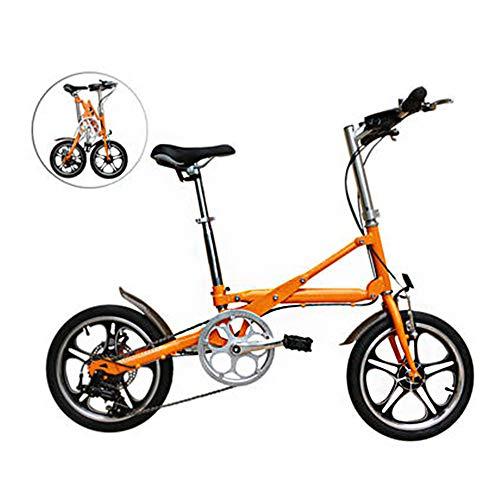 GHH 14-Zoll-Klapprad 1 Sekunde schnell Falten Carbon Steel Ultra Light erwachsenes kleines tragbares Mini-Pedal Fahrrad für Männer und Frauen 14kg