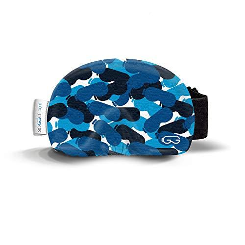 Soggle Funda de microfibra para gafas de esquí, talla única, color: camuflaje 03 azul