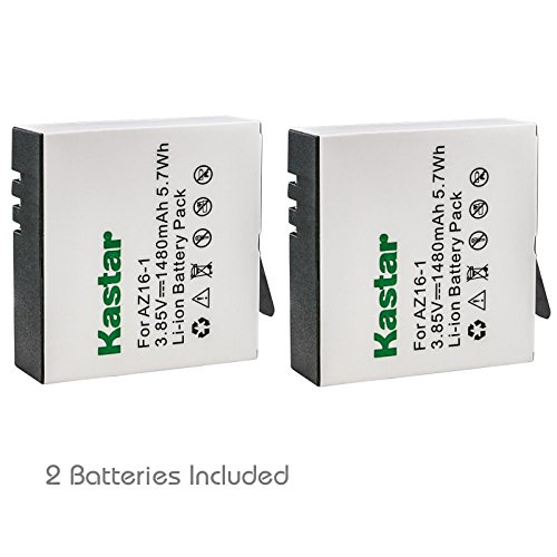Kastar High Capacity Battery 2-Pack for Xiaomi YI AZ16-1, Xiaomi YI AZ16-2 and Xiaomi Yi 4K, Xiaomi Yi 4K+, Xiaomi Yi Lite, Xiaomi YI 360 VR Action Camera