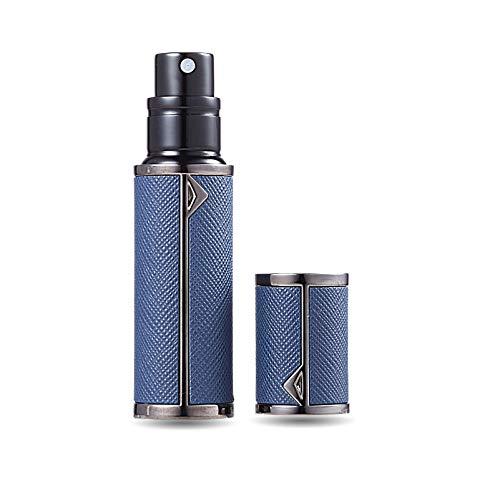 AsaNana Parfümzerstäuber nachfüllbar, Befülltechnik ohne Trichter leer Parfüm Zerstäuber Sprühflasche für Reise Handtasche unterwegs (BK-D.Blue)