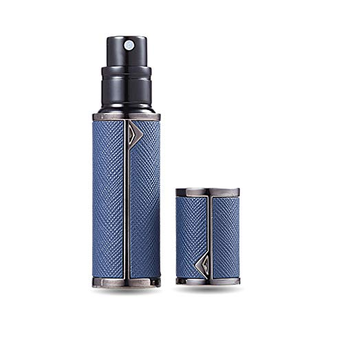 AsaNana Pulverizador de perfume rellenable, tecnología de llenado sin embudo, vaporizador vacío para viaje o bolso de viaje (BK-D.Blue)