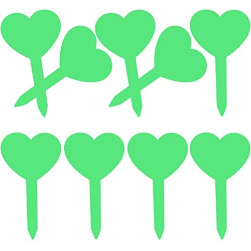 100Stk Liebesherz Plastik Pflanzenstecker Schwarz Pflanzenschilder zum Beschriften Wetterfest Stecketiketten und 1 Weisse Marker Pen tecketiketten Beschriften Pflanzschilder Schilder