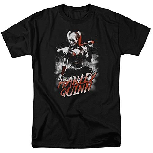Harley Quinn with Baseball Bat DC Comics T Shirt & Stickers (Large) Black