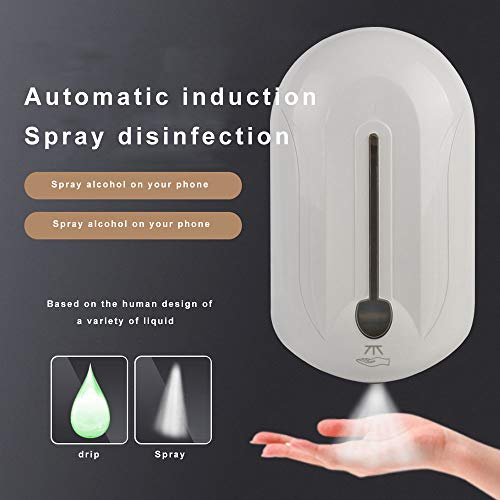 Sterilizzatore A Spruzzo di Alcol con Sensore Automatico per Sterilizzatore Spray Disinfettante per Mani A Parete di Grande capacità Health Care Smart Homes Spray
