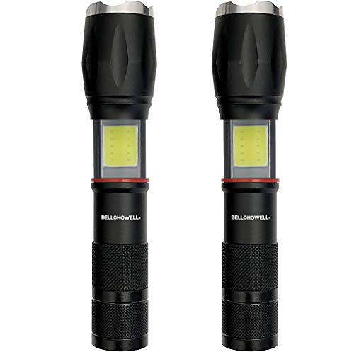 Bell + Howell TACLIGHT PRO Lantern+Flashlight in-1 with Zoom, Magnetic Base As Seen On TV - 40x Brighter (2010) (2 Pack Combo)