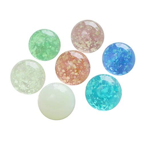 Mikiya leuchtende Glaskugel 7Pcs / Lot 25mm Transparent Aquarium Dekorative Kugel-Korn