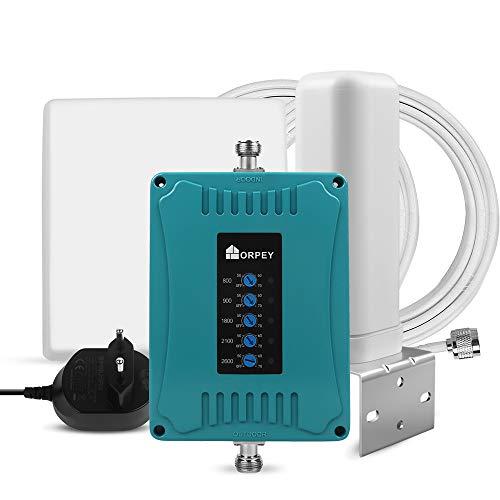 ORPEY GSM UMTS LTE Handy Repeater für alle europäische Betreibers 2G 3G 4G Signalverstärker 800/900/1800/2100/2600MHz multifunktionaler Mobilfunk Verstärker, Anruf und Daten verbessern
