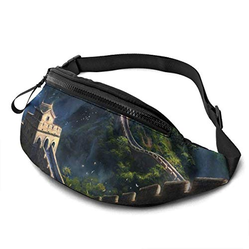 XCNGG Freizeit Hüfttasche Camping Tasche Bergsteigertasche Waist Pack Bag for Men&Women, Colorful Origami Cranes Utility Hip Pack Bag with Adjustable Strap for Workout Traveling Casual Running