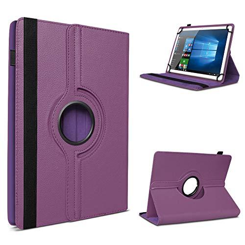 UC-Express Tablet Schutzhülle für 10-10.1 Zoll Tasche aus hochwertigem Kunstleder Hülle Standfunktion 360° Drehbar Universal Hülle Cover, Farben:Lila, Tablet Modell für:ODYS Neo Quad 10