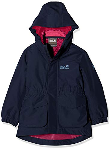 Jack Wolfskin Mädchen Ice CAVE 3IN1 Jacket Girls 3in1-jacke, Midnight Blue, 140
