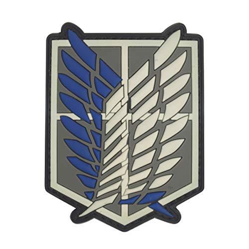 Cobra Tactical Solutions Shingeki No Kyojin Attack Titan Recon Corps Military PVC Patch mit Klettverschluss für Airsoft Paintball für Taktische Kleidung Rucksack