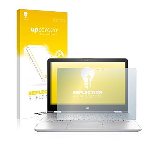upscreen Entspiegelungs-Schutzfolie kompatibel mit HP Pavilion x360 14-ba101ng – Anti-Reflex Bildschirmschutz-Folie Matt